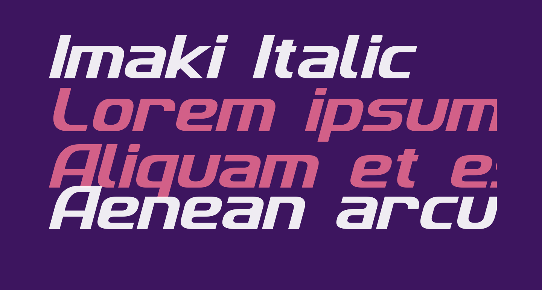 Imaki Italic