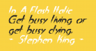 In A Flash Italic