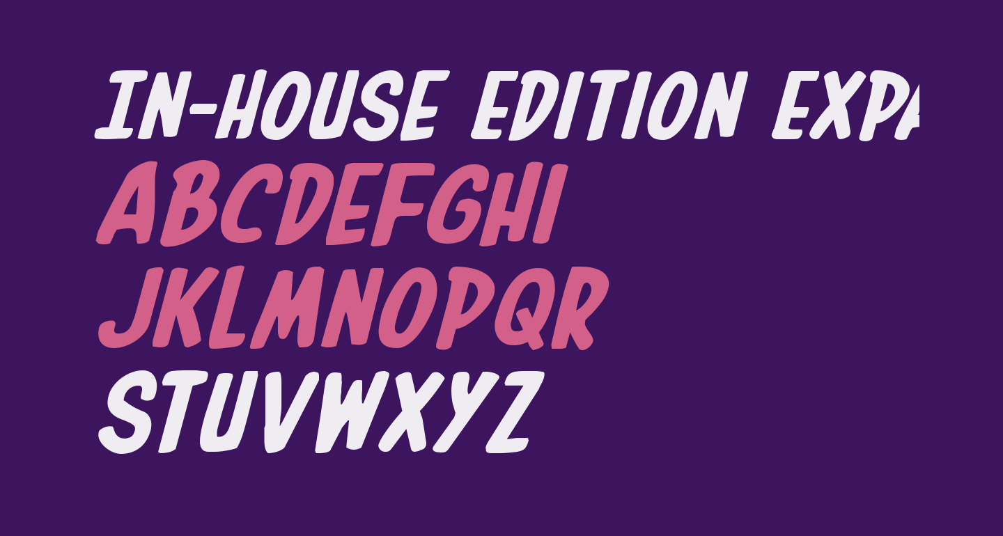 In-House Edition Expanded Italic