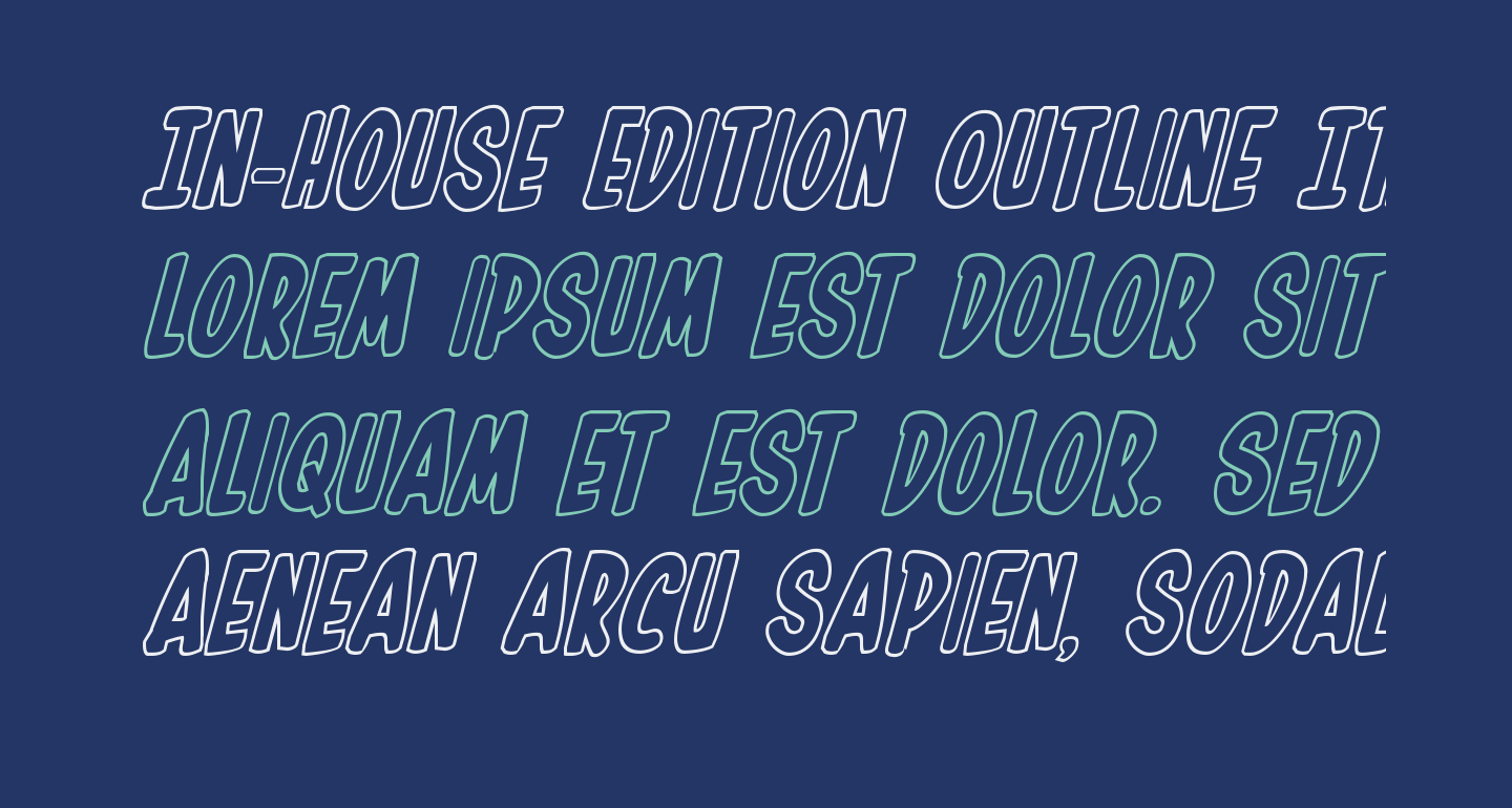 In-House Edition Outline Italic