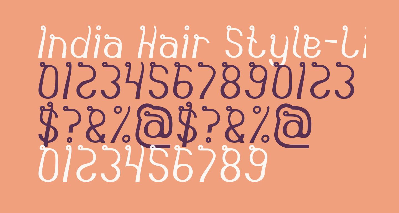 India Hair Style-Light