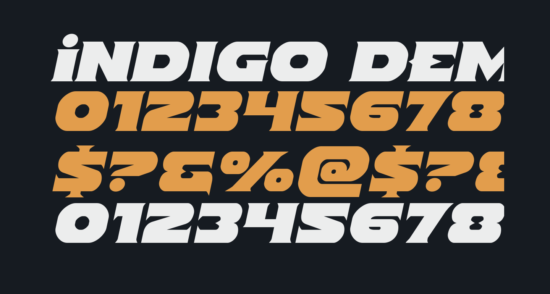 Indigo Demon Semi-Italic