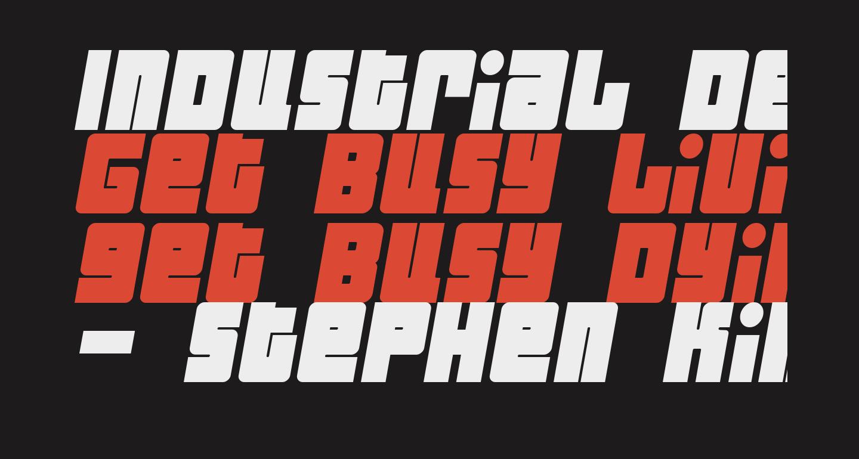 Industrial Decapitalist BoldItalic