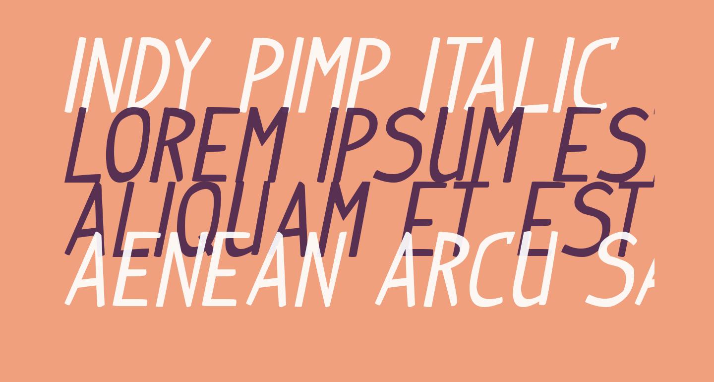 Indy Pimp Italic