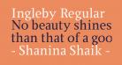 Ingleby Regular