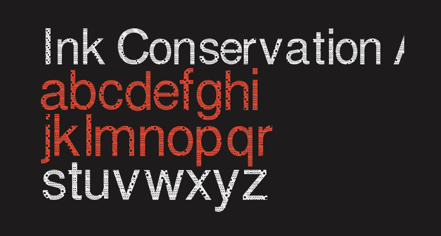 Ink Conservation And Reduction of Use Strategic Font
