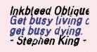 Inkbleed Oblique