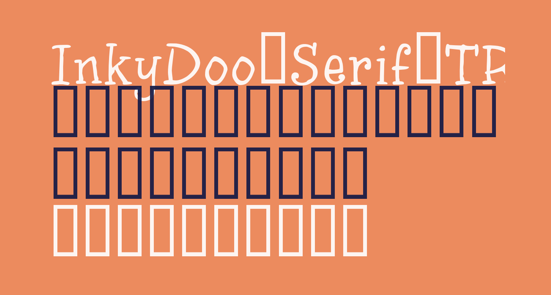 InkyDoo_Serif_TRIAL