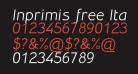 Inprimis free Italic