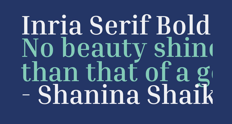 Inria Serif Bold