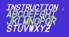 Instruction Bold Italic