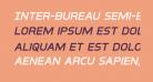 Inter-Bureau Semi-Bold Italic