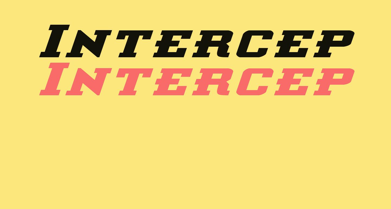 Interceptor Bold ExpItalic