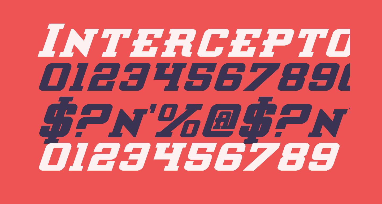 Interceptor Bold Italic