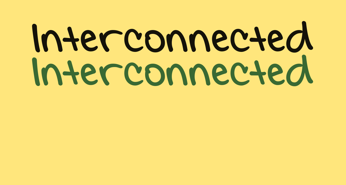 Interconnected Demo Bold