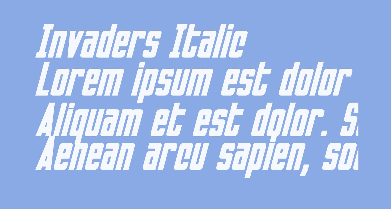 Invaders Italic