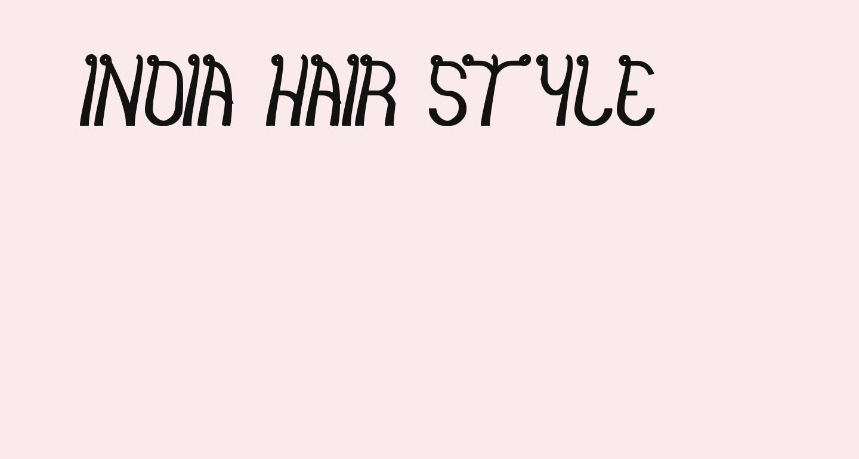 india hair style