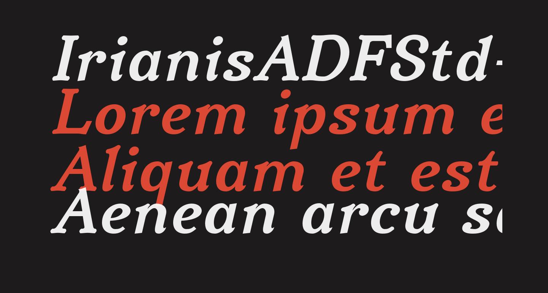 IrianisADFStd-BoldItalic