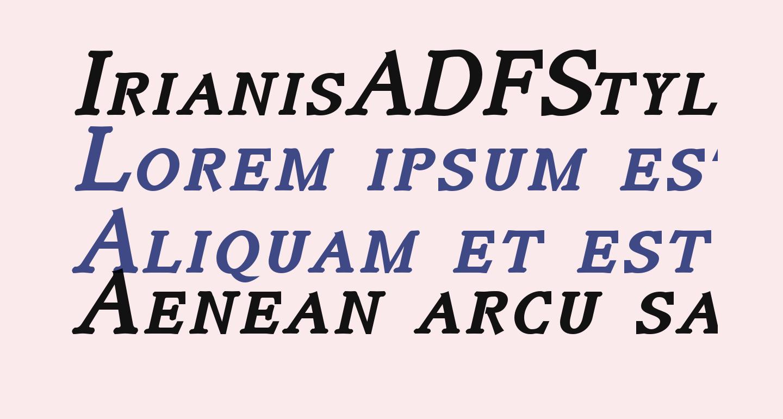 IrianisADFStyleStd-BoldItalic