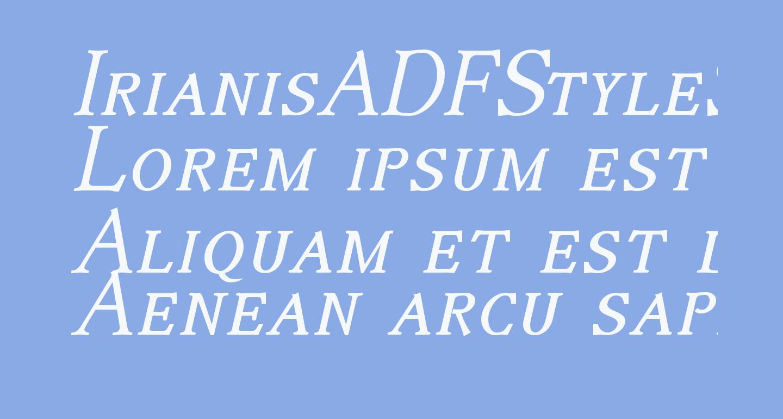 IrianisADFStyleStd-Italic