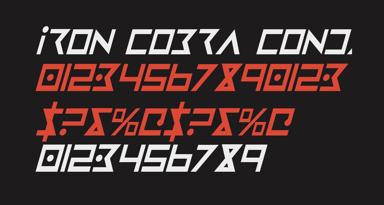 Iron Cobra Condensed Italic