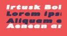 Irtusk Bold Italic
