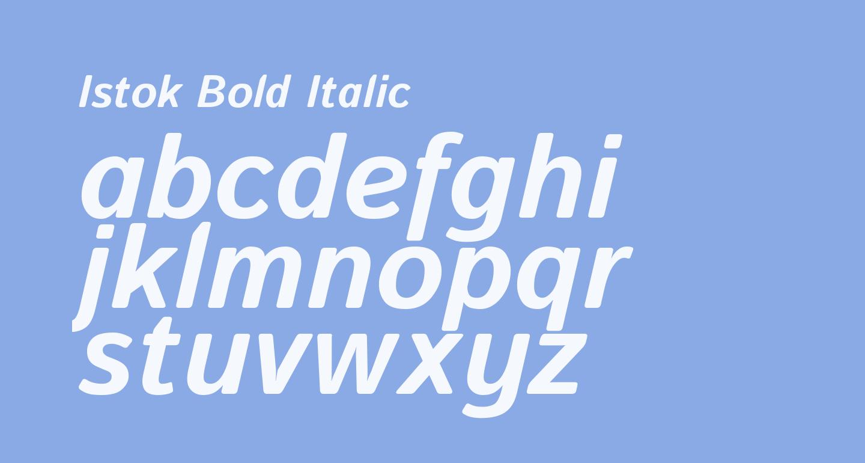 Istok Bold Italic