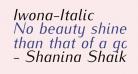 Iwona-Italic