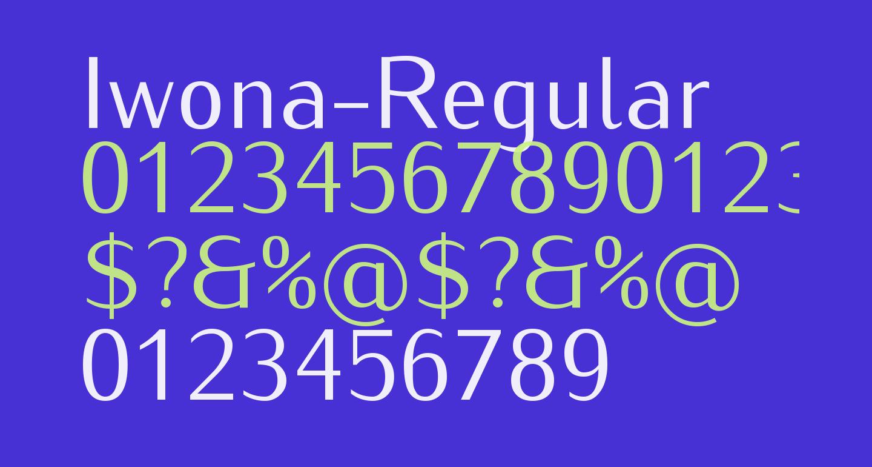 Iwona-Regular