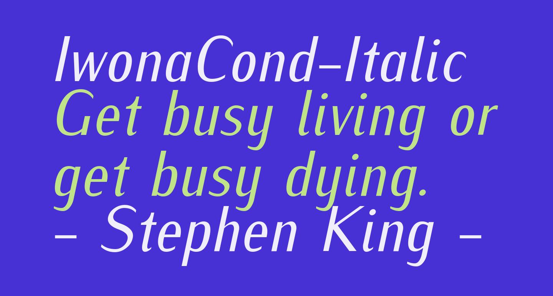 IwonaCond-Italic