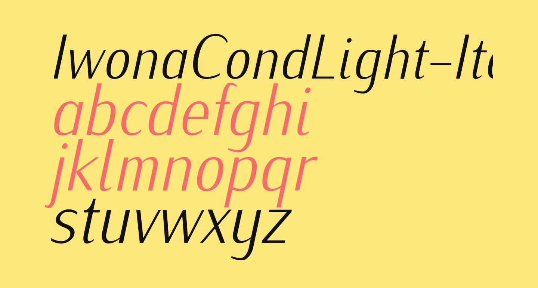 IwonaCondLight-Italic