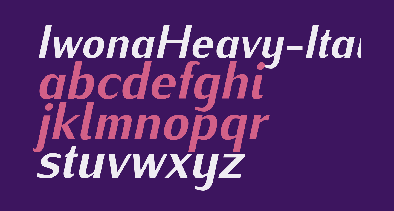 IwonaHeavy-Italic