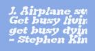 J. Airplane swash Italic