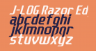 J-LOG Razor Edge Sans Normal Italic