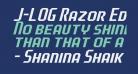 J-LOG Razor Edge Sans Small Caps Italic