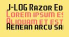 J-LOG Razor Edge Sans Small Caps