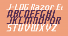 J-LOG Razor Edge Serif Normal Italic
