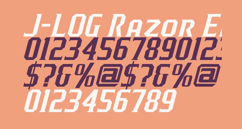 J-LOG Razor Edge Serif Small Caps Italic