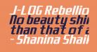J-LOG Rebellion Sans Normal Italic