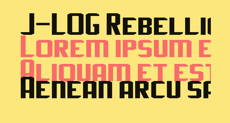 J-LOG Rebellion Sans Small Caps