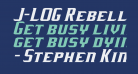 J-LOG Rebellion Serif Small Caps Italic