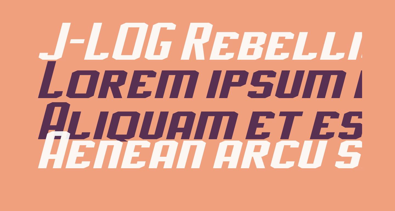 J-LOG Rebellion Slab Sans Small Caps Italic