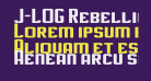 J-LOG Rebellion Slab Sans Small Caps