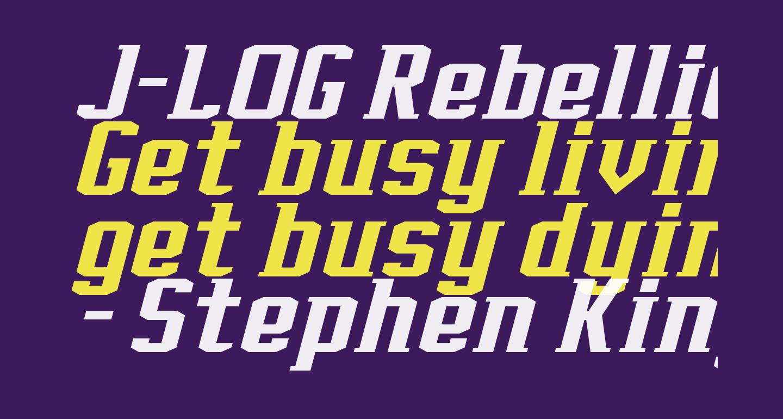 J-LOG Rebellion Slab Serif Normal Italic