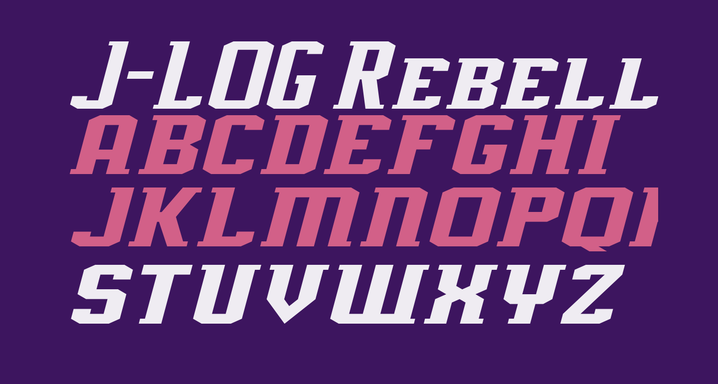 J-LOG Rebellion Slab Serif Small Caps Italic