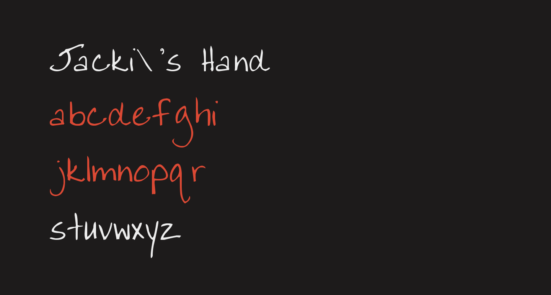 Jacki's Hand