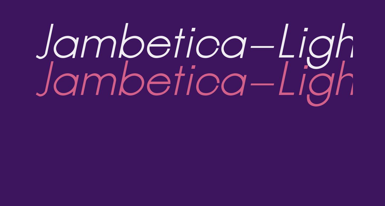 Jambetica-LightItalic