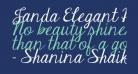 Janda Elegant Handwriting