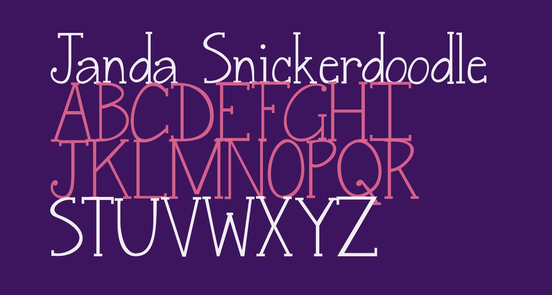 Janda Snickerdoodle Serif