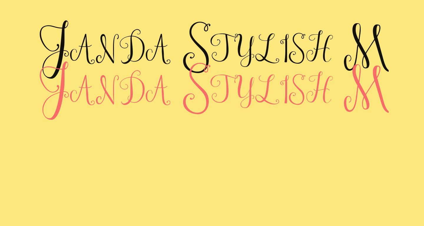 Janda Stylish Monogram